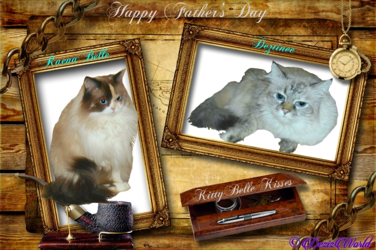 Raena and Dezi in Father's day frame