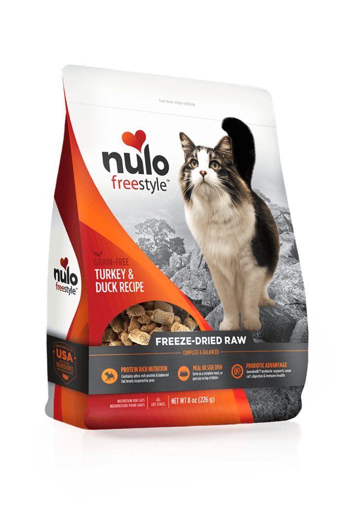 Nulo freeze dried turkey and duck cat food