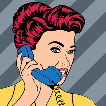 Angry red headed woman on phone