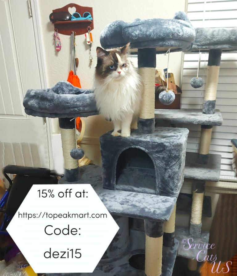 Raena on topeakmart.com cat tree discount code