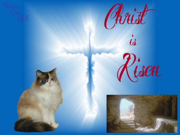 Raena with cross and empty tomb for Resurrection Sunday 2021